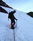 Mont Tondu - Nordostflanke, auf den ersten steilen 200 hm