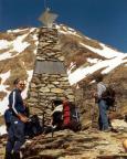 An der Ötzi-Fundstelle, hier kommt man beim Zustieg zur Finailspitze vorbei.