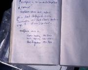 Unser Gipfelbucheintrag auf dem Weißkugel