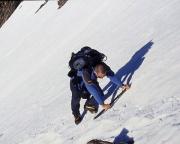 Weißkugel - Nicht zu unterschätzender steiler Firnanstieg zur Höllerscharte