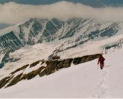 Rückmarsch zur Hütte aus nach Besteigung des Eiswandbichl
