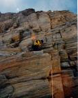 Klettern am Burgstall, ein gutes Übungsgelände für Gipfeltouren