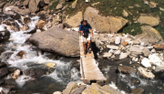 Kurze spannende Abwechslung – die Brücke hat gehalten ;)