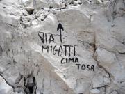 Markierung des Aufstiegs zur Cima Tosa