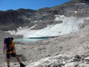 Klimaerwärmung auch in der Palagruppe - Reste vom Gletscher