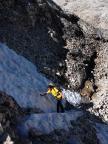 Auf dem Weg zum Gletscher, Schnee und Eis fordern Vorsicht