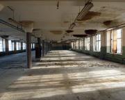 LP-Geocaching in Forst - Etage 2 des imposanten Baus - hier ratterten einst die Webstühle.