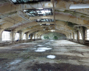 LP-Geocaching in Forst - Die oberste Etage verschlägt einem den Atem - Industriebaukultur einer einst blühenden Tuchindustrie.