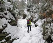 Der unschwere Zustieg ist im Winter besonders reizvoll, teilweise aber auch vereist