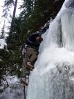 Dirk Fechner am Eisfall im nördlichen Uttewalder Grund