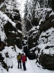 Allein der Anmarsch und der winterliche Uttwalder Grund sind die Reise wert - man ist in einem Märchenland