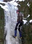 Thomas Kobbe a der Eissäule im Bereich der Teufelskammer im Uttewalder Grund