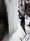Bielatal, Einstieg in den vorderen Eisfall