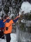 Eisklettern im Uttewalder Grund, naja, Versuche - 2006