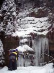Nicht gut gewachsener Eisfall im Uttewalder Grund