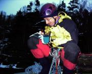 Am 31.12.2004 nach rutschiger Kletterei analog auf dem Trautmannfels  fotografiert ;)