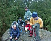 Unser Team der ersten Begehung 2005 auf dem Gipfel der Heidewand