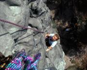 Kathrin in der Südwand, V, am Türkenkopf