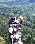 Ralf am Gipfel des Hinteren Torsteinkegels nach Durchsteigung der Südostkante, V