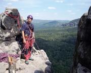 Standplatz auf dem Gipfel Saurier  - warum der wohl so heißt?
