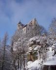 Am Morgen des dritten Tages herrlicher Sonnenschein über Burg Hohnstein