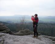 Geschafft - das erste Mal Falkenstein an diesem Tag - Volker auf dem Gipfel