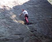 Brandpyramide, Alter Weg V - wenn man Reibung nicht beherrscht eine Route voller Rätsel