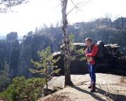 Wegen der noch fehlenden belaubung ein eher seltener Blick auf die Bastei
