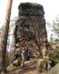 Als einzeln stehenden Gipfel extra angesteuert - die Cunnersdorfer Nadel