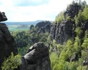 Grandiose Landschaft im Schmilkaer Klettergebiet - Blick von der Rotkehlchenstiege