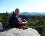 Ralf auf dem Gipfel Nashorn