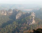 Herbststimmung in den Honigsteinen, aufgenommen vom Gipfel Gänseei