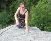 Auch Christina erreicht problemlos den Gipfel über den AW III
