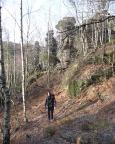Im Sommer dunkel und muchtig - im Herbst eine Pracht - das Bielatal mit seiner bizarren Felsenwelt.