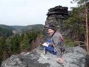 Ralf auf den Gipfel des Rabenturms - nach einer schweren Geburt ;)