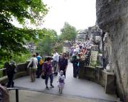 Ein ganz normaler Tag auf der Basteibrücke ...