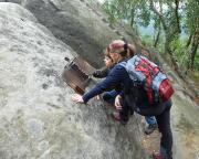 An der Bergsteiger-Gedenkstätte auf der Hohen Liebe