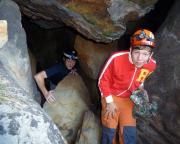 Ausfahrt aus der Sandlochhöhle - ein insgesamt leichtes Unterfangen für Jedermann