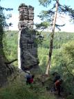 Der Obelisk im Klettergebiet von Ostrov