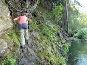 Flößersteig Kirnitzschtal – schwere Stelle bei Ostrau