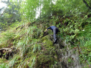 Flößersteig mit Kletterstelle nahe der Ostrauer Mühle