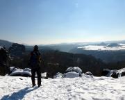 Immer wieder schön - auch im Winter  Aussichtspunkt oberhalb der Breiten Kluft