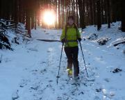 Sonnenuntergangsstimmung  beim Abstieg vom Großen Winterberg zum Zeughaus