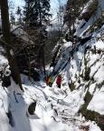 Alternative zum Wildschützensteig -   Aufstieg durch die Breite Kluft oberhalb von Schmilka