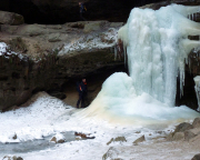 Der Höhepunkt des Sonntags  Besuch der Gautschgrotte bei Hohnstein mit ihren Eisbildungen