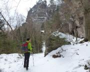 Königsweg im Elbsandsteingebirge, in den beeindruckrnfrn Schluchten des Kleinen Zschand