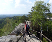 In den Steiganlagen der Rauensteine zwischen Rathen und Wehlen