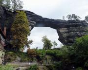 Tour 07/2014 - Das Tagesziel ist erreicht, das Prebischtor, wohl das größte freistehende Felsentor Europas.