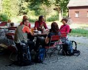 Vor der Wanderung in den Großen Zschand traditionelle Einkehr in das Restaurant Zeughaus