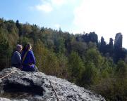 Das Bielatal bietet schon tolle Aussichten - aber nur selten über den Rand des Tales - und irgendwie sitzt man fast immer im Grünen.